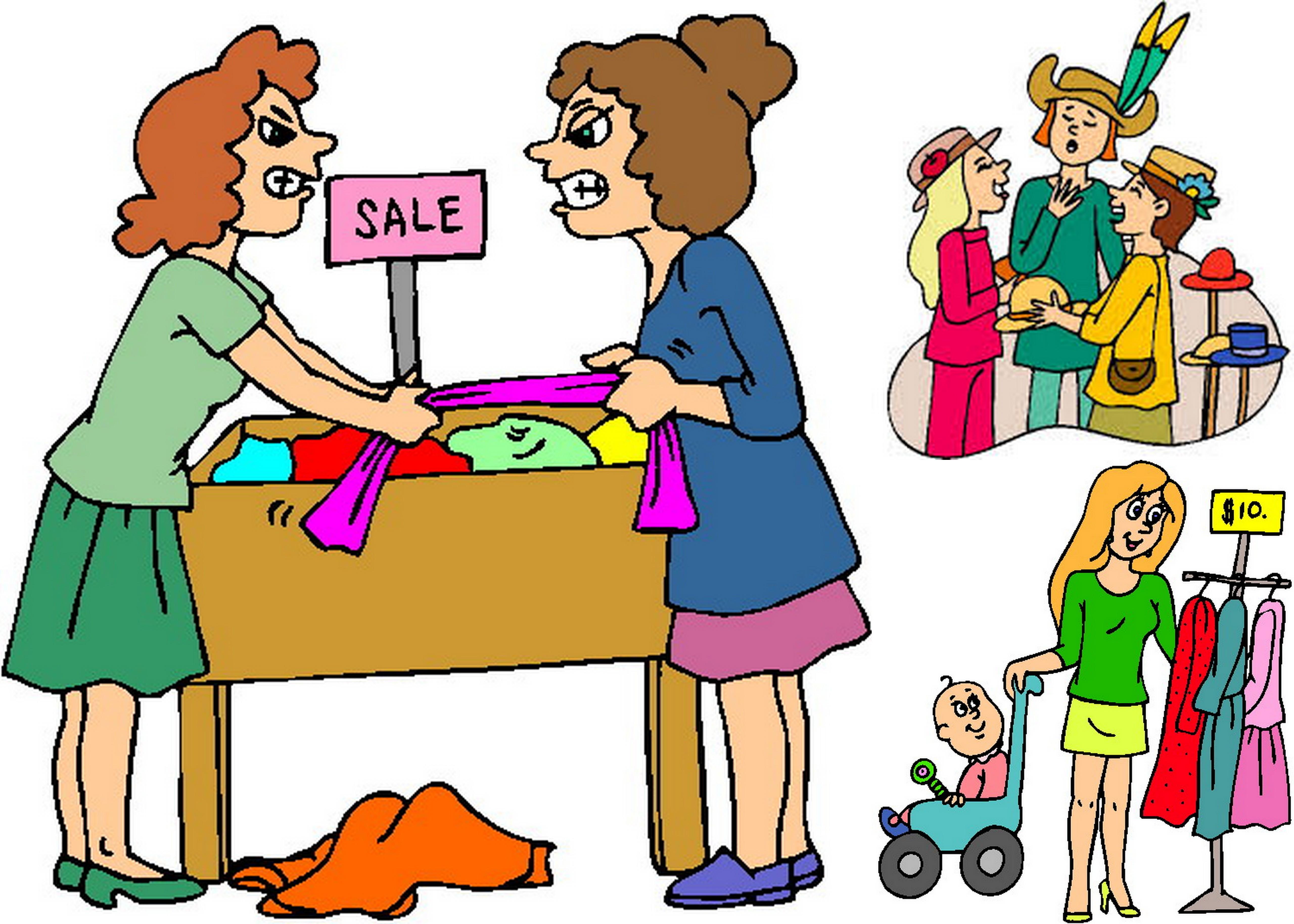 5120x3657 Online Rummage Sale Clip Art Cliparts