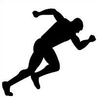 198x198 track runner sillouette Clipart Panda