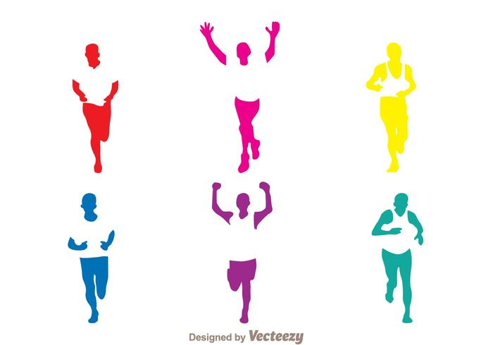 700x490 Colorful Running Silhouette