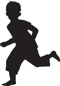 208x300 Running Silhouette Clipart