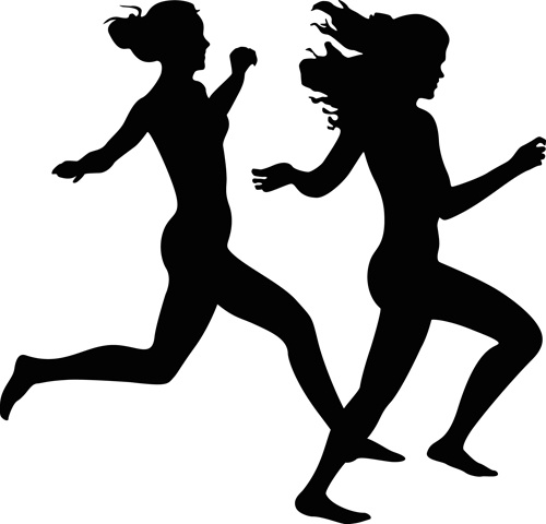 500x480 Woman Running Silhouette Free Vector Download (7,396 Free Vector