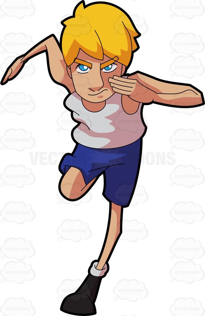 Running A Race Clipart