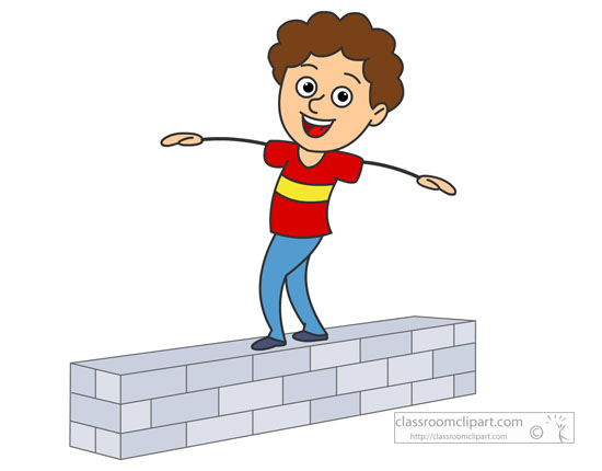 550x430 Image Result For Child Walking On Balance Beam, Clipart Running