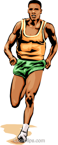 191x480 Man Running Race Royalty Free Vector Clip Art Illustration