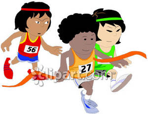 300x231 Child Clipart Running Race
