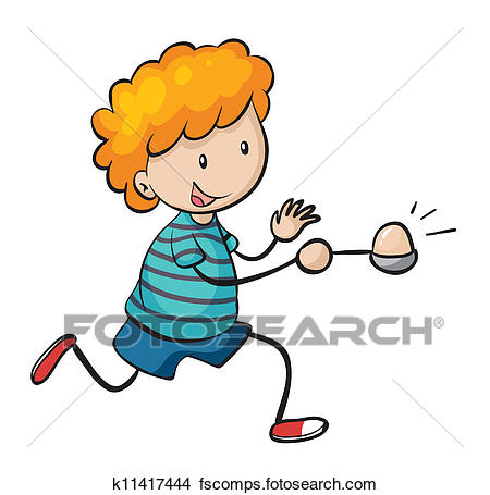 450x455 Clipart Of Boy Running In Egg And Spoon Race K11417444