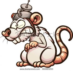 306x300 Coloring Pages Cartoon Rats Pictures Stock Vector Scared Running