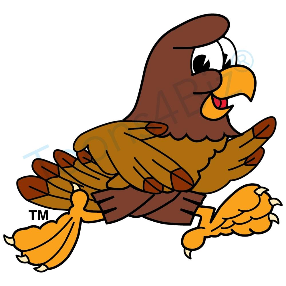 1000x1000 Falcon Mascot Running Clip Art Clip Art