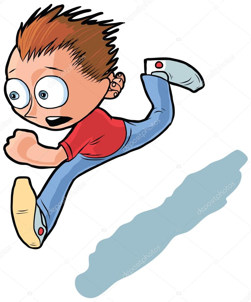 850x1023 Running Boy Vector Cartoon Clip Art Illustration Stock Vector