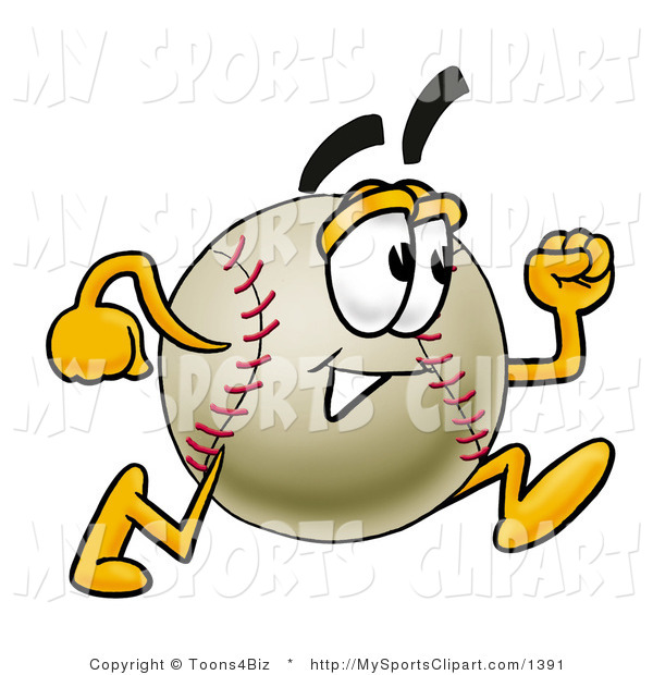 600x620 Sports Clip Art Of A Baseball Mascot Cartoon Character Running