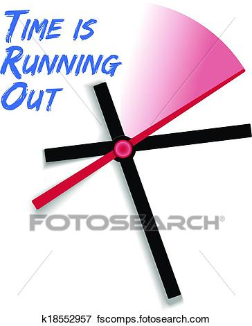 364x470 Clip Art Of Limited Time Running Out Clock K18552957