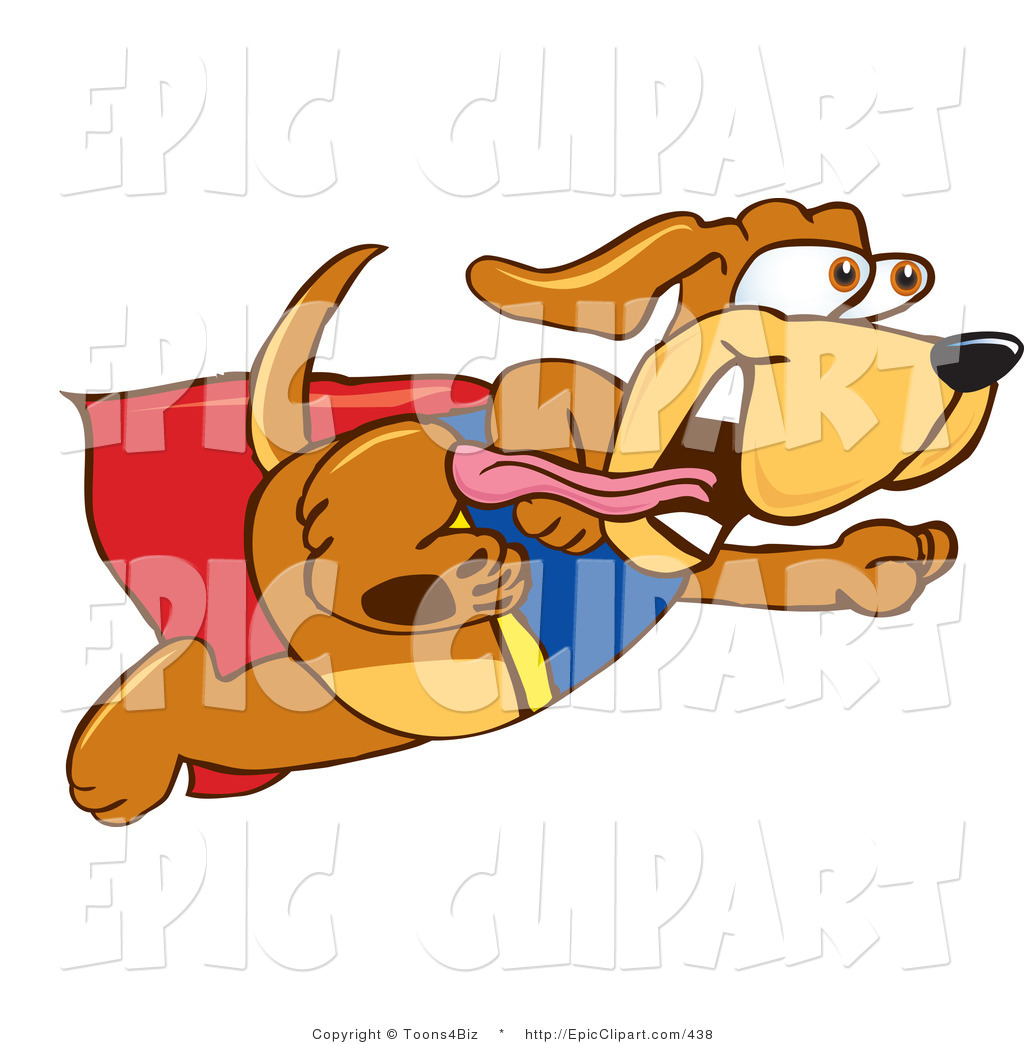 1024x1044 Clip Art Of A Running Super Dog By Toons4biz