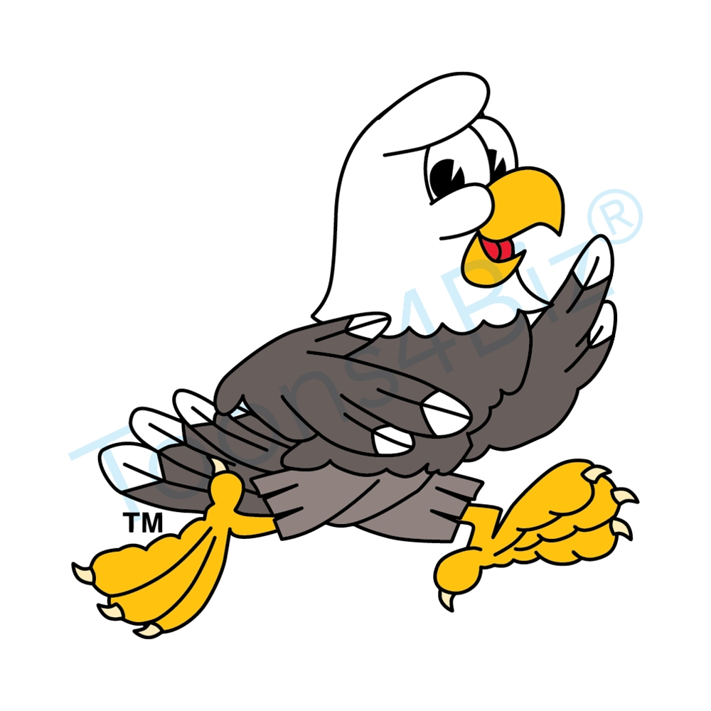 1000x1000 Bald Eagle Mascot Running Clip Art Clip Art
