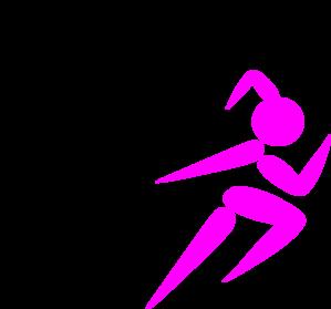 299x279 Girl Running Clip Art