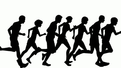 400x224 People Running Clipart
