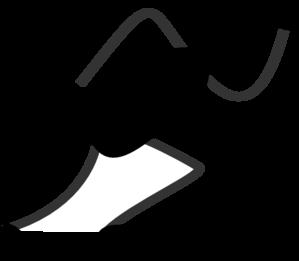299x261 Running Stick Figure Black Clip Art