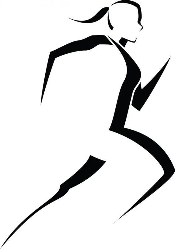 564x801 Clip Art Black White Runner Clipart Kid 2