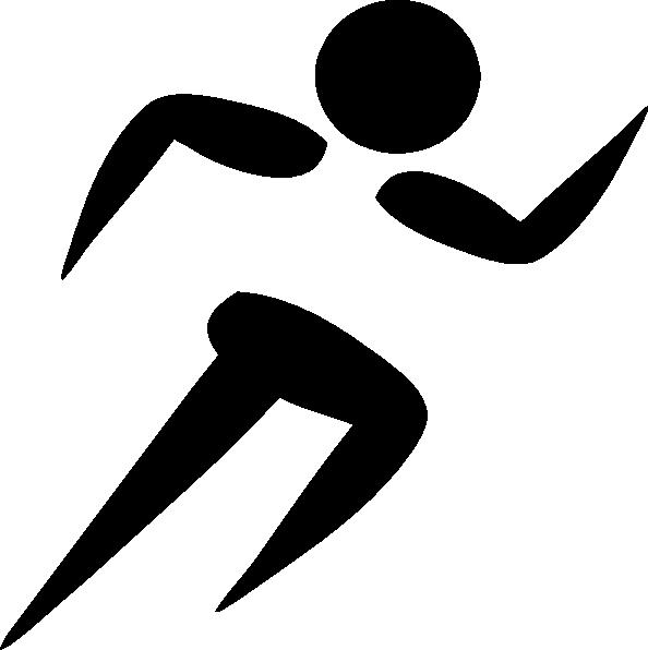 594x596 Clip Art Black White Runner Clipart Kid 4