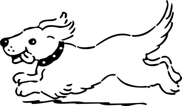 600x349 Dog Running Clipart Many Interesting Cliparts