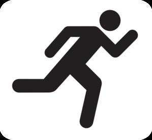 299x276 Running Icon Clip Art