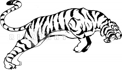 400x229 Running Tiger Clipart Black And White Letters Format