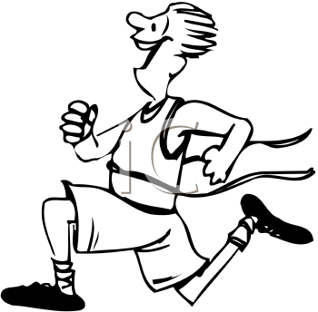 Running Clipart Black And White