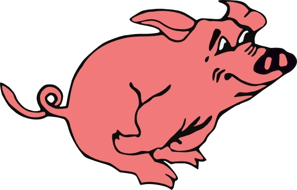 600x385 Running Pig Clip Art Free Vector In Open Office Drawing Svg ( Svg