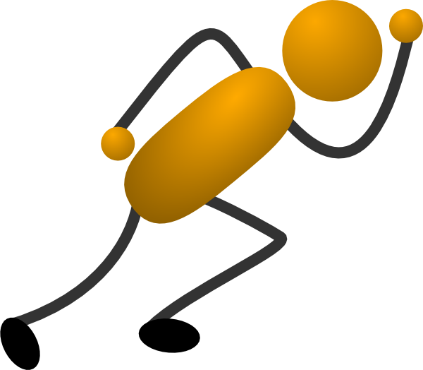 600x524 Running Stick Figure Clip Art
