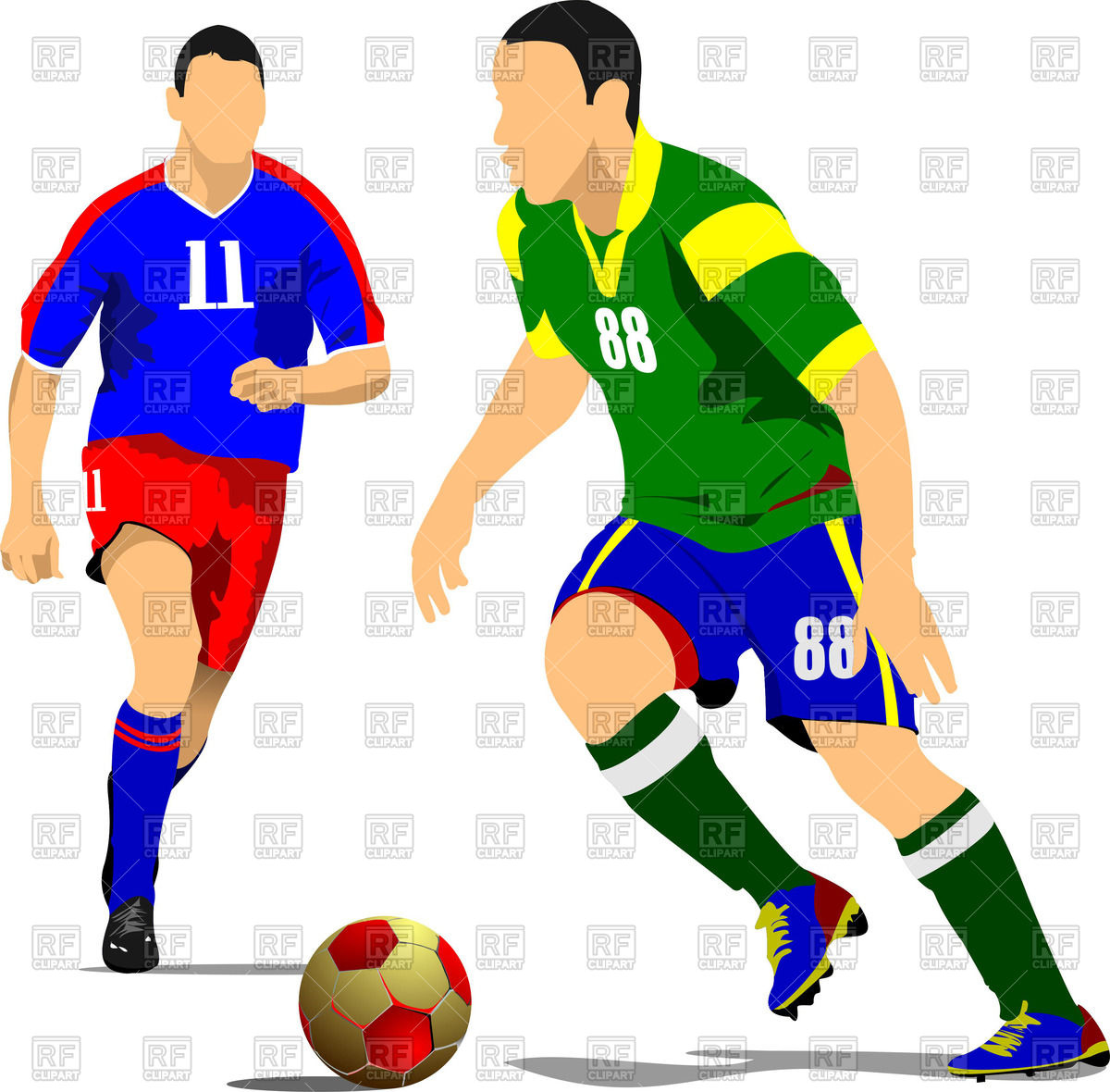 1200x1180 Silhouette Of Running Soccer Players With Ball Royalty Free Vector