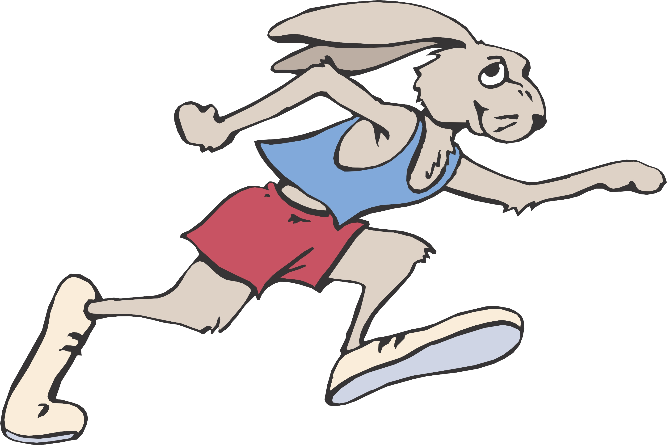 2826x1886 Cartoon Running Clipart