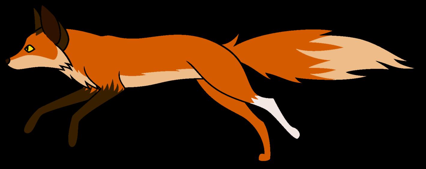 1419x563 Fox Clipart Running Away