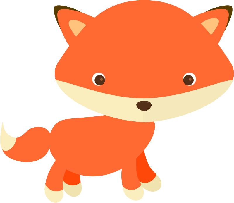 800x694 Free Cute Fox Clip Art
