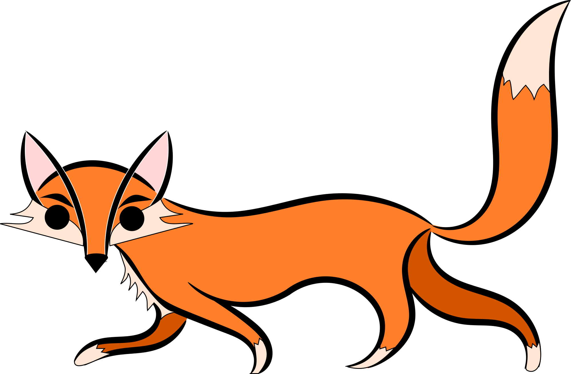 2000x1309 Free Sneaky Fox Clipart Clipart And Vector Image