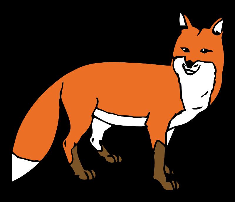 800x690 Jackal Clipart Running Fox