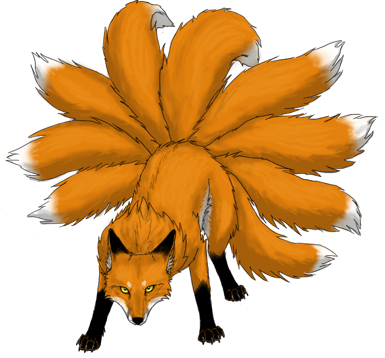 763x709 Nine Tail Fox Clipart Image
