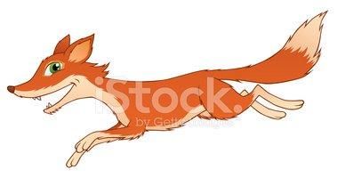 379x200 Running Fox Stock Vectors