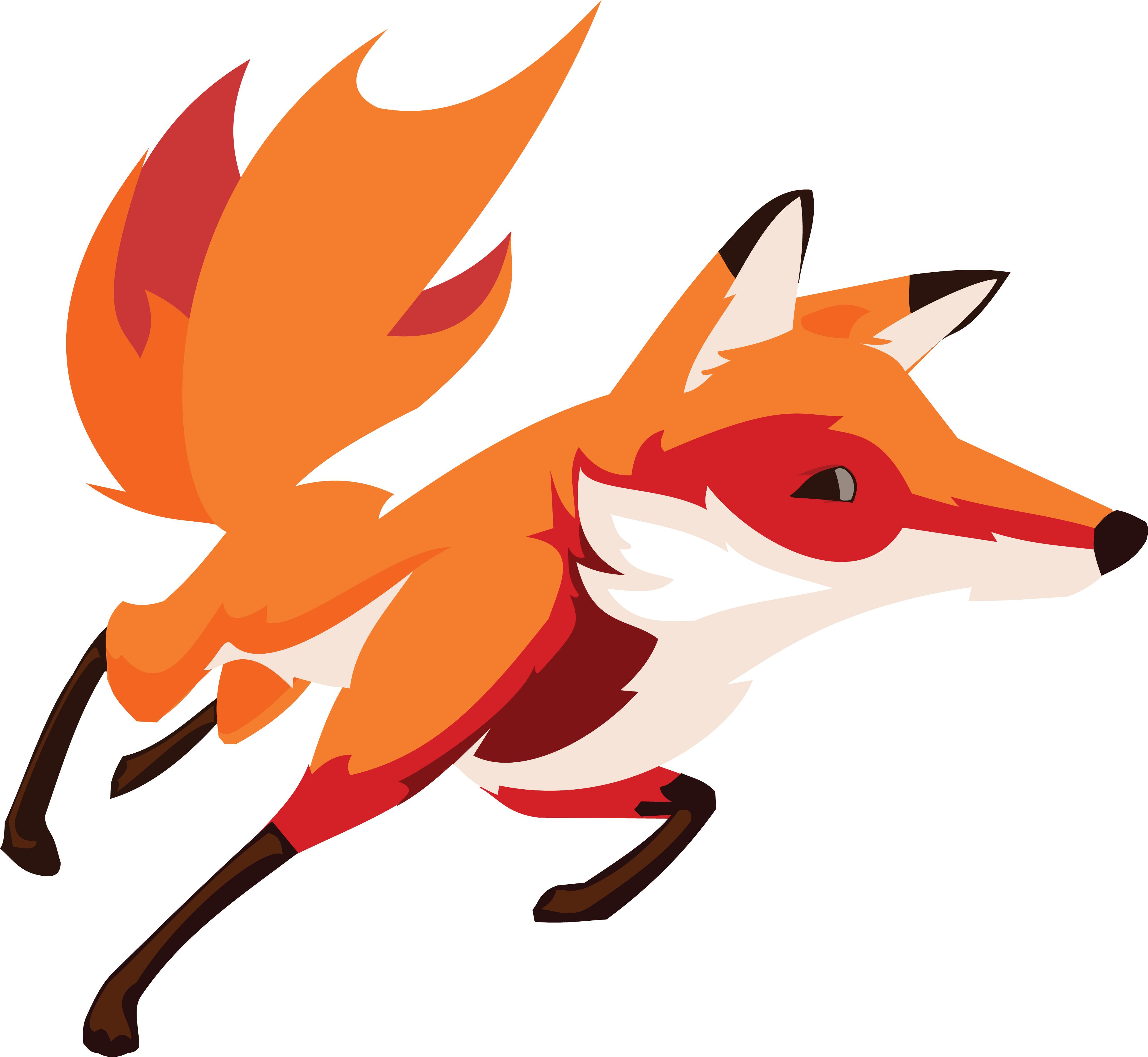 4000x3684 Clipart Of A Running Fox
