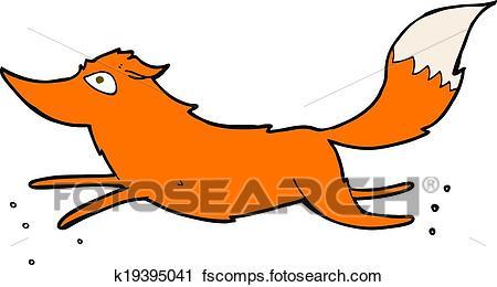 450x260 Clipart Of Cartoon Fox Running K19395041