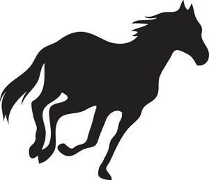300x259 Gait Clipart Image A Trotting Horse's Silhouette Camp Crafts