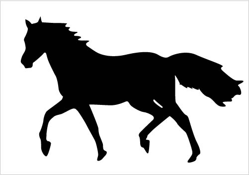 501x352 Horse Silhouette Vector Cipart Download Running Horse Vector