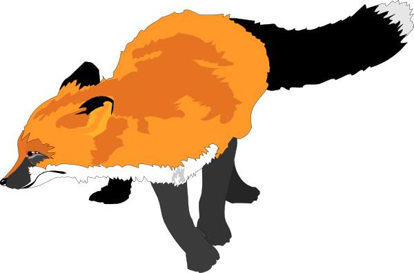 600x396 Running Fox Silhouette Free Clipart Images