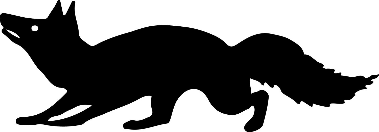 1500x525 Silhouette Clipart Fox