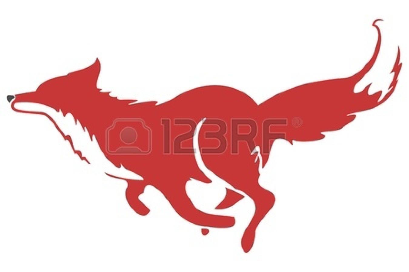1350x900 Silver Fox Clipart Running Fox