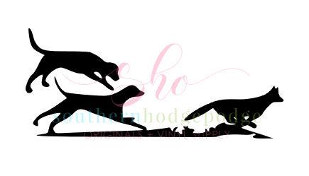 435x249 Walker Dogs Running Fox Design Svg File Svg Design Dogs