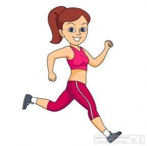 288x287 Running Girl Clipart