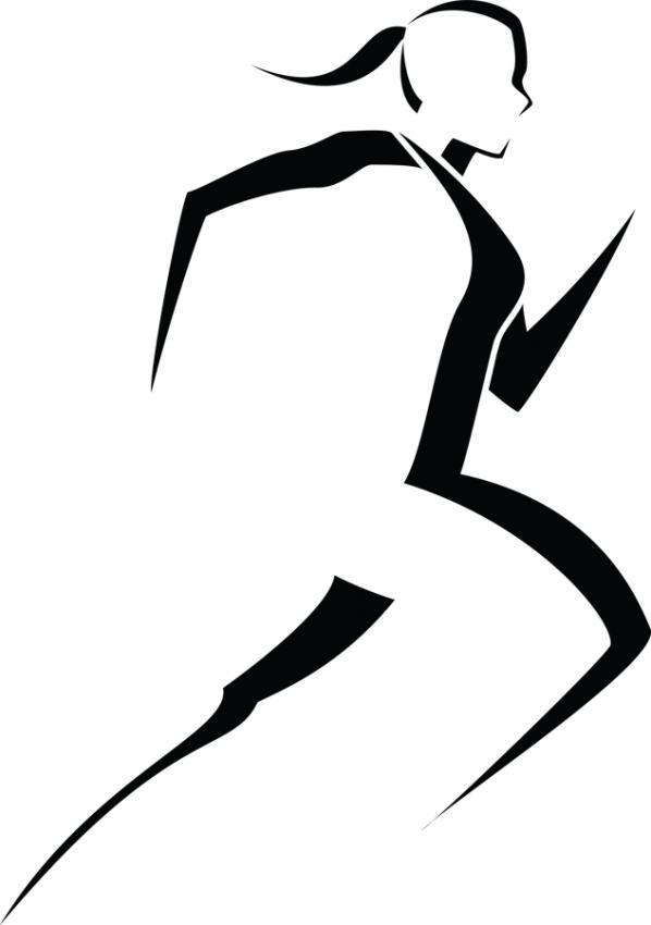 Running Girl Stick Figure