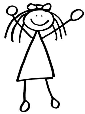 300x400 Little Girl Clipart Stick Figure
