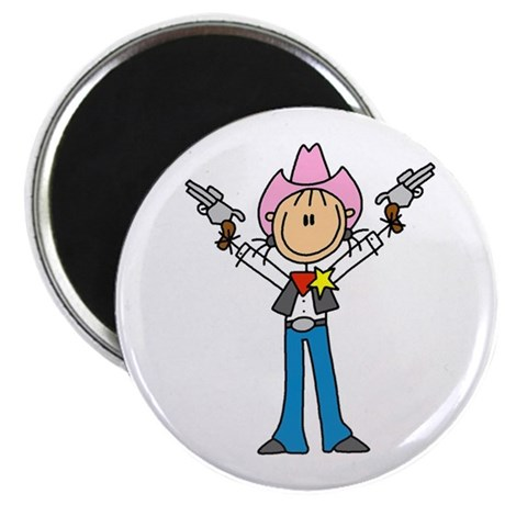 460x460 Stick Figure Girl Running Magnet Cafepress
