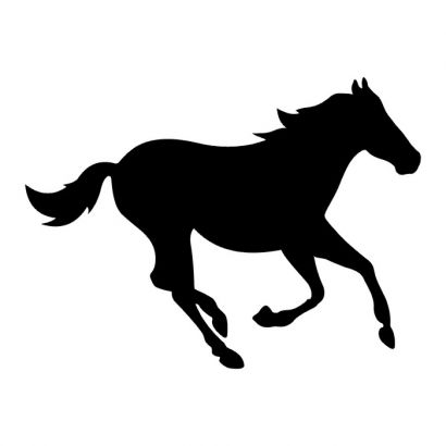 Running Horse Outline