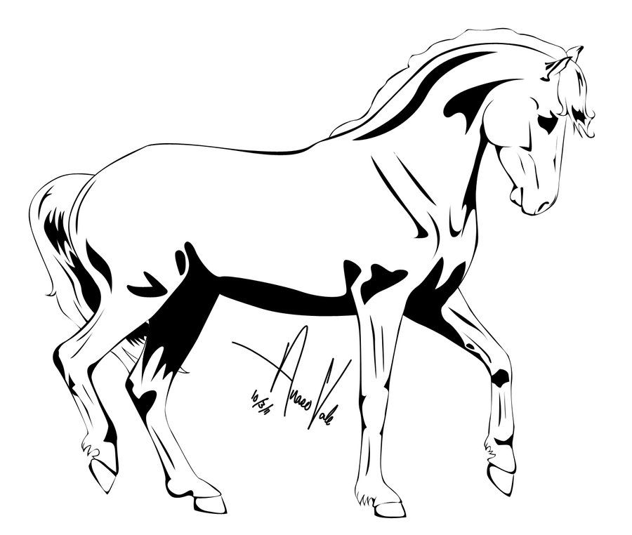 900x762 Pin Horse Outline Clip Art Vector Free For Download